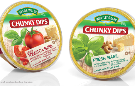 Wattle Valley - Chunky Dips Packaging